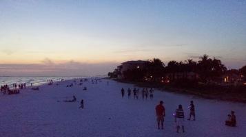 Beach just after sunset