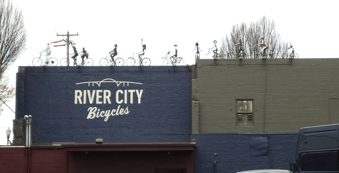 River City Bicycles rooftop