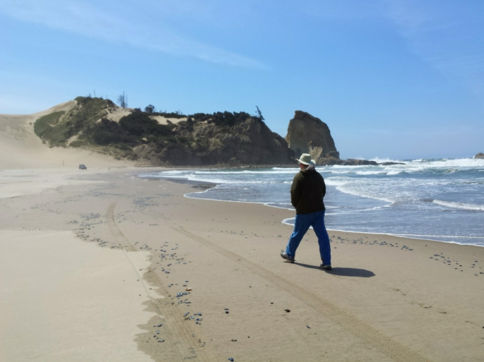 Toward the dune...