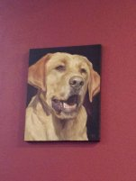 Lucky Lab painting