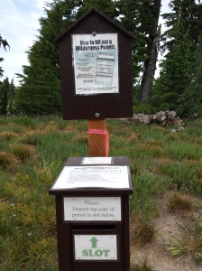 Timberline Trail Permit kiosk