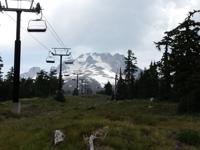 Ski lift on Mt. Hood