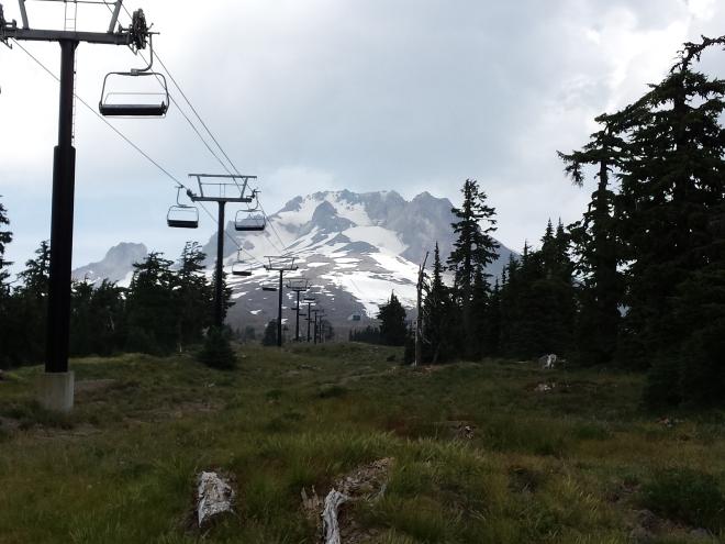 Ski lift on Mt. Hood