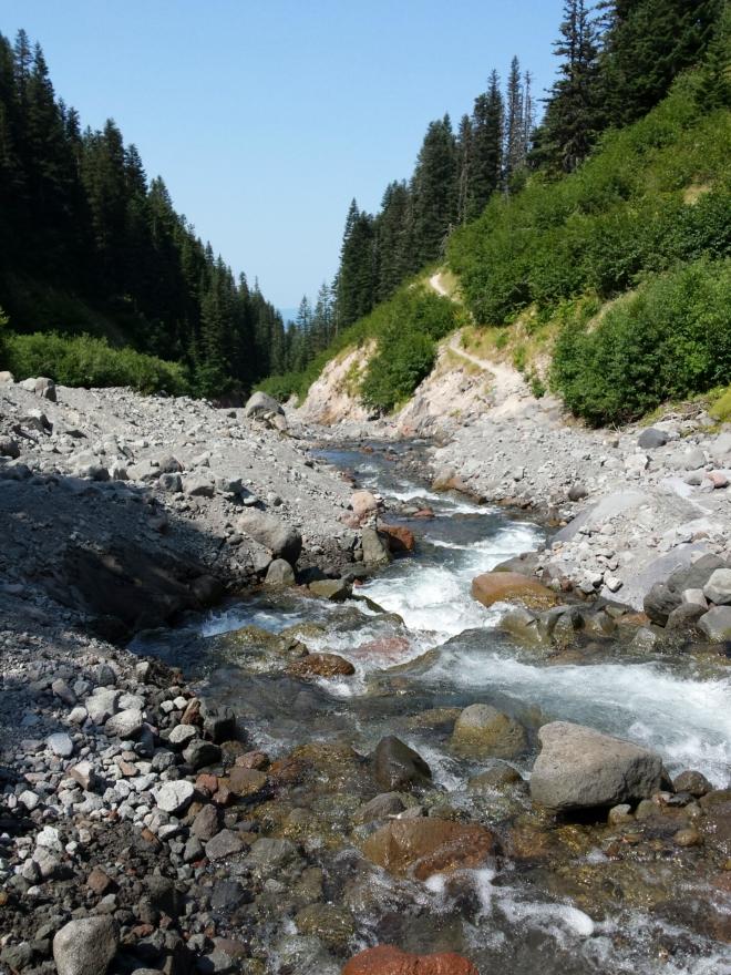 Zigzag River facing south