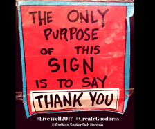 Day 127 thank you sign