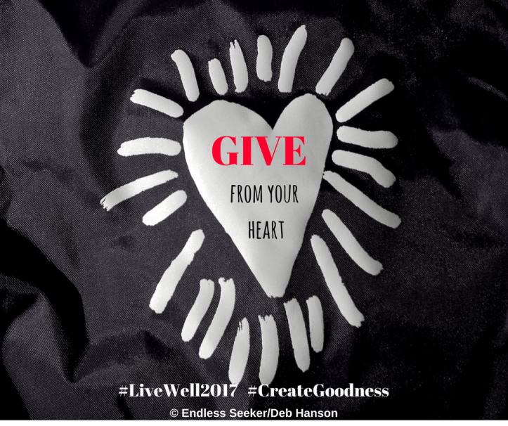 Day 335 GIVE from the heart
